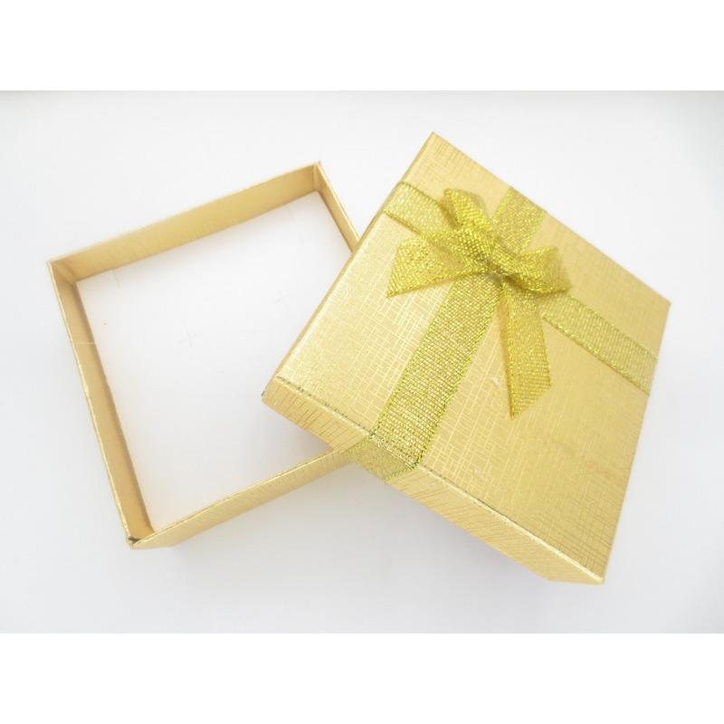2x sieradendoosjes cadeaudoosjes goud 9 x 9 cm