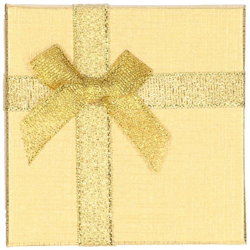 Goud sieradendoosje cadeaudoosje 9 x 9 cm