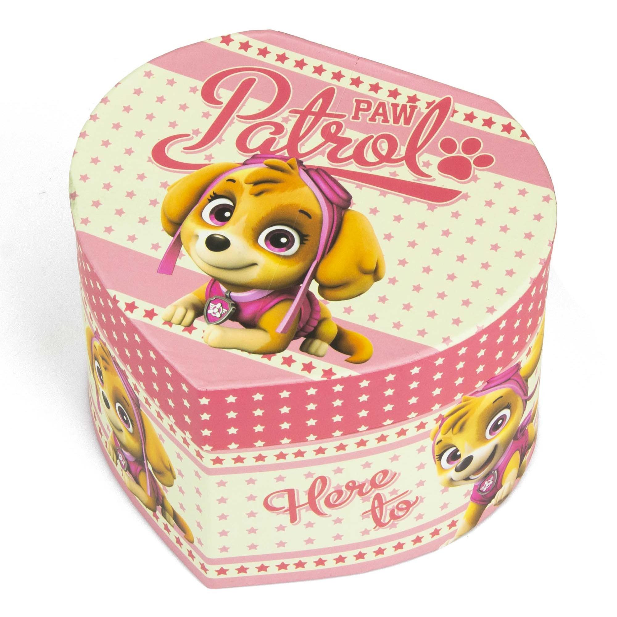 Juwelendoos sieradendoos roze paw patrol skye 12 x 11 x 8 cm voor meisjes