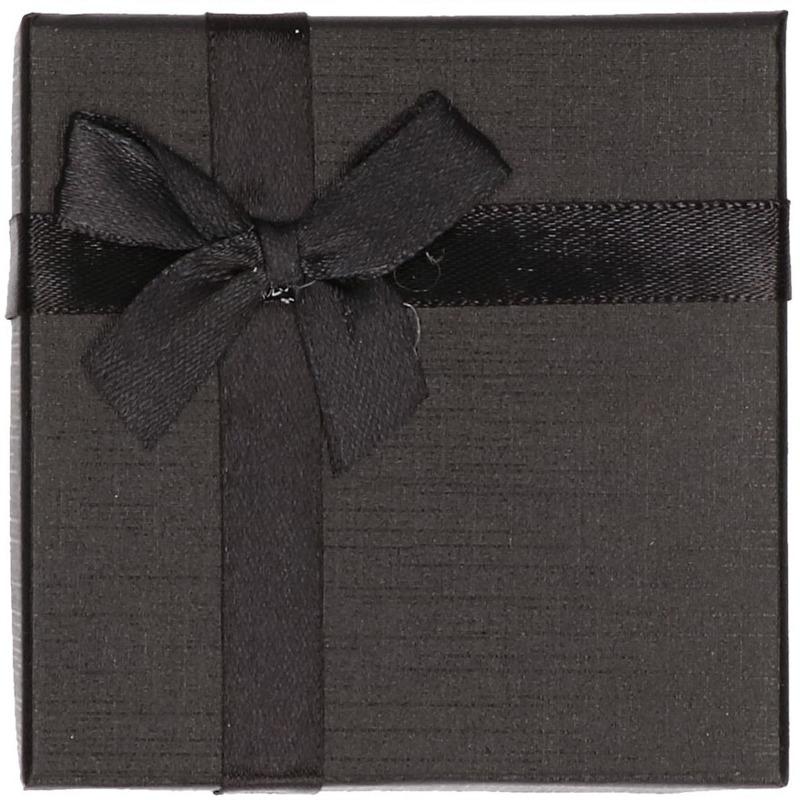 Zwart sieradendoosje cadeaudoosje 9 x 9 cm